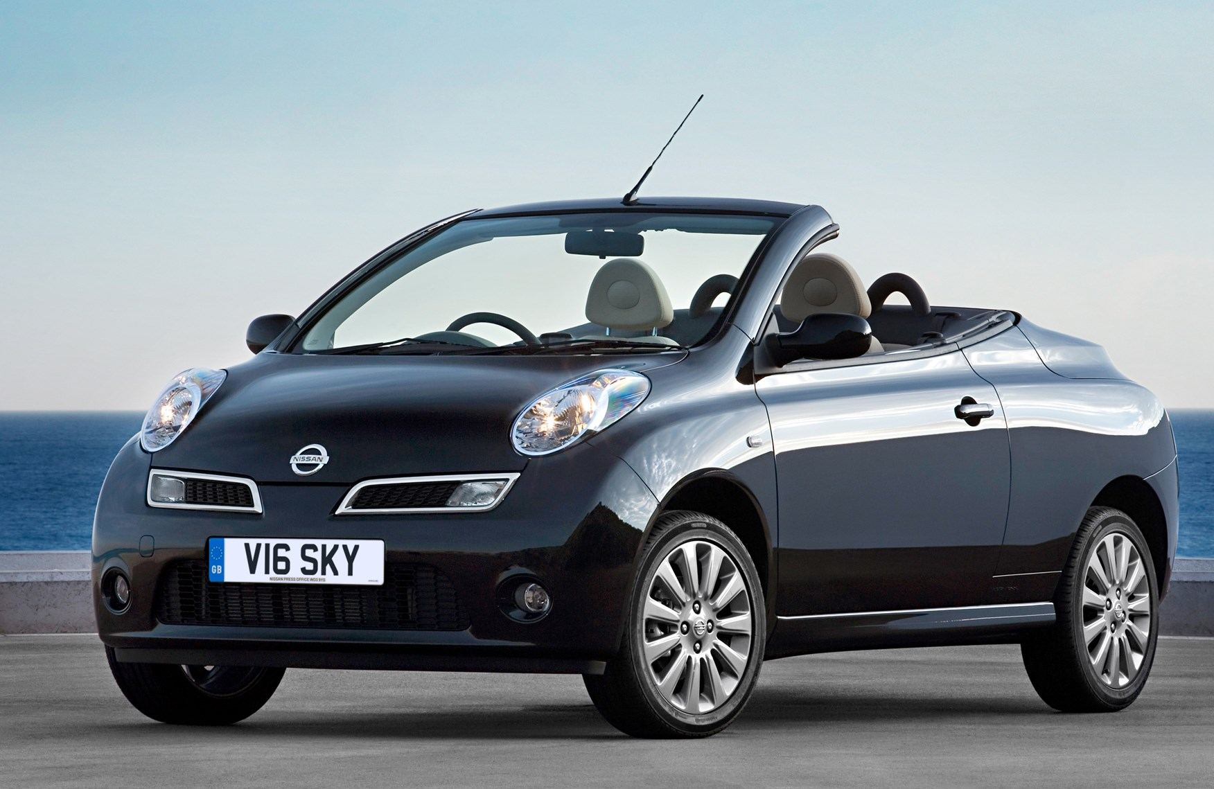 rent a nissan micra cabrio a c in santorini spiridakos. Black Bedroom Furniture Sets. Home Design Ideas